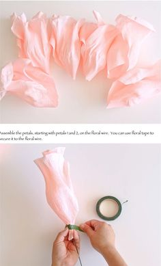 1 million+ Stunning Free Images to Use Anywhere Crepe Paper Flowers Tutorial, Paper Flower Decor, Paper Flowers Wedding, Tissue Paper Flowers, Fabric Flowers, Diy Flowers, Fleurs Diy, Paper Peonies, Flower Template