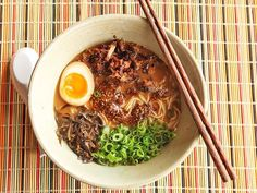 Miso Ramen With Crispy Pork and Burnt Garlic-Sesame Oil~A rich and creamy miso-flavored pork stock ramen with a complex burnt garlic-sesame-chili oil, all topped with crispy braised pork.