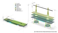 3d croquis design - TIPI l'étagère bureau par Assaf Israel