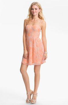 Fire Lace Skater Dress (Juniors) (Online Exclusive) available at #Nordstrom
