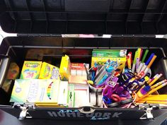 The Homework Box - organizing school supplies....YES please!!!