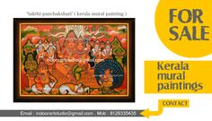 All type of kerala traditional mural paintings and oil paintings available in reasonable prices. Price start from 700 x sqft (kerala murals on canvas,) We specialized in kerala  traditional murals ,interior art and any kinds of art works.  Our studio paintings are 100% hand-painted.  are you interested in kerala mural art..? pls contact immediately ,then we will send to original our paintings samples... mob: 8129335435,  indoorartstudio@gmail.com