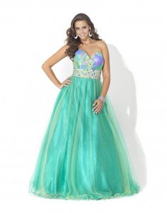 @Blush Prom 5106 Multi color sweetheart neckline ballgown skirt #Prom #Dresses #IPAProm #Prom360