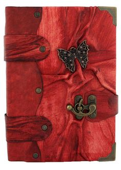 Butterfly Sculpture on a Red Leather Bound Journal - Notebook - Diary Sketchbook | eBay 32
