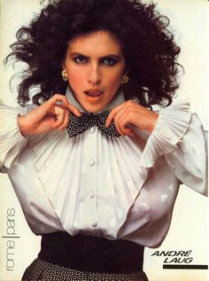 Vogue US 1982 Photo Bill King Model Clio Goldsmith