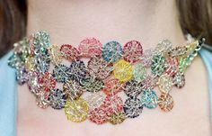 Coloured circles necklacebracelet.Unique modern by Vmikro on Etsy