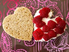 Raspberry Mascarpone Heart Sammies | Weelicious
