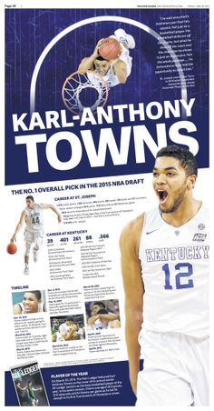 Karl-Anthony Towns graphic #Newspaper #Design #Layout