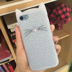 Phone Case 3D cute cartoon Black beard cat Ears soft silicone case For iphone 7 plus 5 5s se 6 6s plus