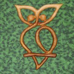 Owl Knot-Transition, Mysticism, Wisdom Intelligence, Messages Secrets | signsofspirit - Woodworking on ArtFire