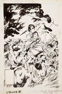 Conan The Barbarian 182 (1986) by John Buscema.