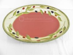 Hand Painted Clay Art Serving Platter