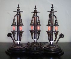 The Pillars of Time- A Steampunk Nixie Clock and my 10th Instructable ;)Made from pure Brass and Coppertubes.