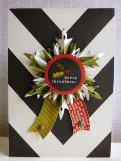 Simple Stories DIY Christmas - Snowflake rosette card for Hey Little Magpie