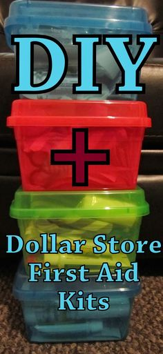 How to make your own Complete First Aid Kits at a fraction of the cost! DIY Dollar Store First Aid Kit