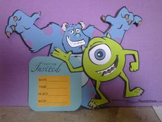 Monster Inc. invitation