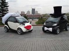 smart car wedding - we don't have smart cars but we could dress our stretches like this of course!