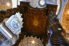 El Baldaquino, en San Pedro del Vaticano, Roma (1624-1633): - Buscar con Google