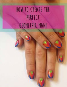 How To Create The Perfect Geometric Mani In 9 Easy GIFs