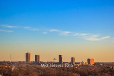 Stretched Canvas - Texas Woman's University Skyline Denton Texas TWU