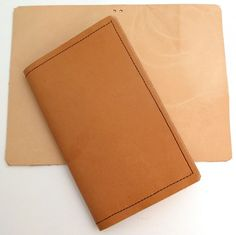 Make it yourself - Midori Traveler's style leather Moleskine Cahier or Field Notes notebook cover
