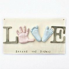 The Sweetest Personalized Baby Print Ornaments is part of Baby handprint - These adorable Baby Print Ornaments are all handmade by a wonderful mother who knows just how to preserve those precious memories! Baby Design, Baby Mobile, Baby Wall Art, Baby Keepsake, Baby Hands, Baby Prints, New Kids, Nursery Room, New Baby Products