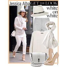 #GetTheLook #CelebrityStyle #StreetStyle #WhiteOnWhite #JessicaAlba