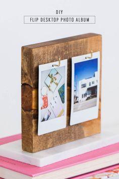 A DIY Flip Photo Album for your Desktop! by lifestyle blogger Ashley Rose of Sugar & Cloth - Houston (Diy Photo Art)
