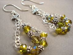 fractal swarovski | Jewelry Design Tip - Bali Sterling Silver and Crystal Earrings