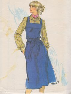 70s A-Line Jumper and Blouse, Square Neck, Blouse with Pointed Collar, Size 10, Bust 32, Vogue Sewing Patterns 9606, Uncut by TheGrannySquared on Etsy