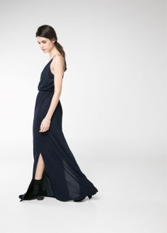 Side-slit wrap dress