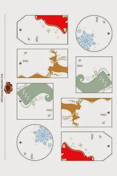Imprimolandia: Etiquetas navideñas