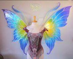 Fairy Marie's Custom Giant Rainbow Wings by FaeryAzarelle