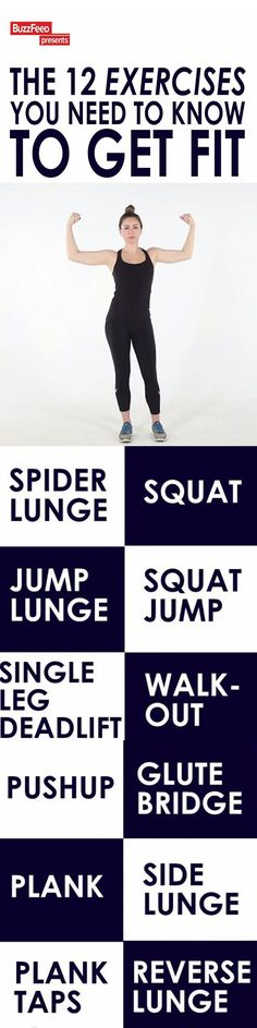 12 EXERCISES TO CHANGE YOUR LIFE: Gym memberships can be expensive but you can do any of these 12 exercises to get a full body workout where ever you are with no equipment.  #exercise #fitness #workout
