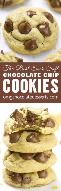 Soft Chocolate Chip Cookies from scratch is easy recipe for the best homemade, chewy chocolate chip cookies.