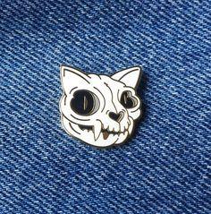 Cat Skull Pin by AllisonBoesch on Etsy