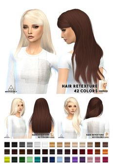 Miss Paraply: Alesso hairstyles retextured - Sims 4 Hairs - http://sims4hairs.com/miss-paraply-alesso-hairstyles-retextured/