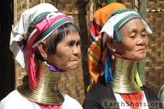 Padaung ladies with neck rings to enhance their beauty, Myanmar