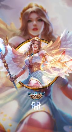 Wallpaper Phone Rafaela Wings of Holiness by FachriFHR on DeviantArt Cute Anime Character, Character Art, Character Design, Anime Girl Hot, Anime Art Girl, League Of Legends Characters, Female Characters, Bang Bang, Alucard Mobile Legends