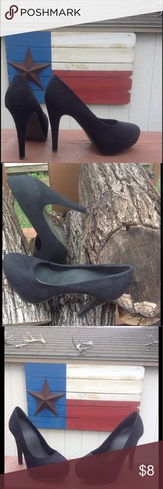 """Black high heels 38 EU size Never worn black high heels. 12cm heels. Bought in a French store """"La Halle aux chaussures"""". Never worn. Looks new. Shoes Heels"""