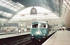 Manchester Central Station in 1960, closed in 1969, Manchester, UK.