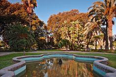 Fuente en los Jardines Picasso, Málaga