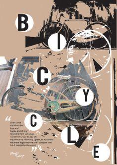 "My ""bicycle"" grunge poster design"