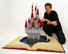 WHOOOA! This guy, Nathan Sawaya, does AMAZING Lego sculptures, including this fantastical pop-up-book