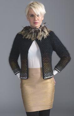 Калия куртка: ангорской шерсти TACTEL> куртка> Женщины> Laines Annyblatt