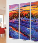 Glass Designer Radiator M9 Colourful Meadow Triple  Image - gorgeous. Click the link for more!