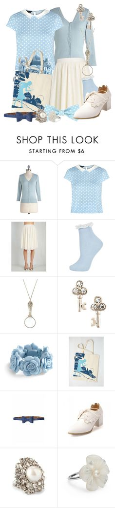 """""""Vintage Nancy Drew"""" by detectiveworkisalwaysinstyle ❤ liked on Polyvore featuring Topshop, Antiquities Couture, Juicy Couture, Bettie Page, Retrò, Simply Silver, vintage and plus size clothing"""