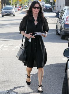 Natural beauty: On Thursday, Courteney Cox showed off her sculpted legs after a pamper session at Andy LeCompte salon in West Hollywood