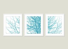 Modern Tree Branches Print Set - I really like this idea!