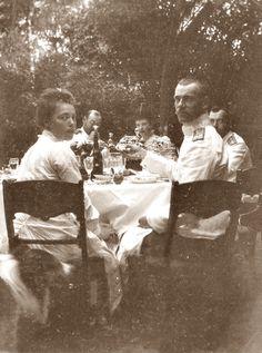 Grand Duchess Olga, Grand Duke Michael, Nicholas II , Marie Feodorovna and Prince Valdemar of Denmark